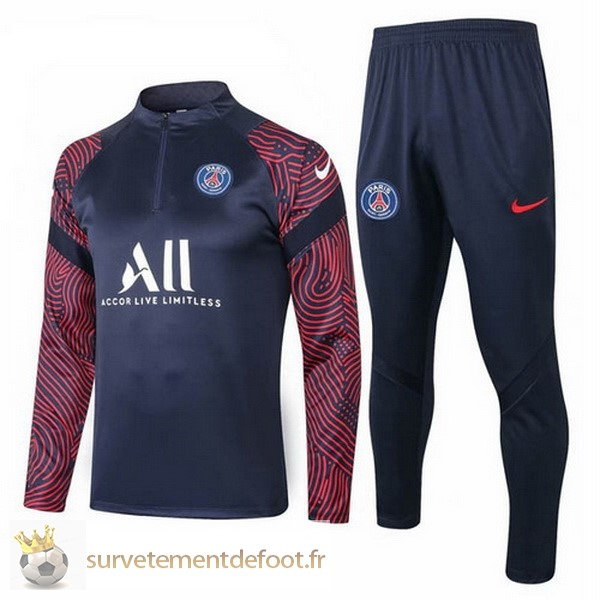 Survetement Paris Saint Germain Equipement 2020 2021 Noir Rouge Blanc
