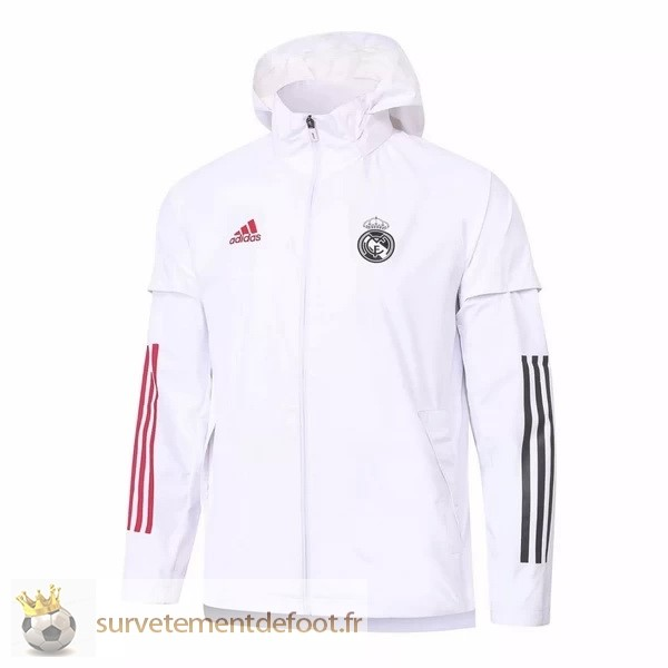 Coupe Vent Real Madrid Equipement 2020 2021 Blanc