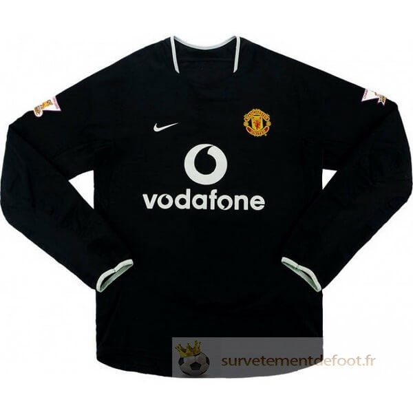 Maillot 2rd Manches Longues Manchester United Retro Equipement 2003 2005