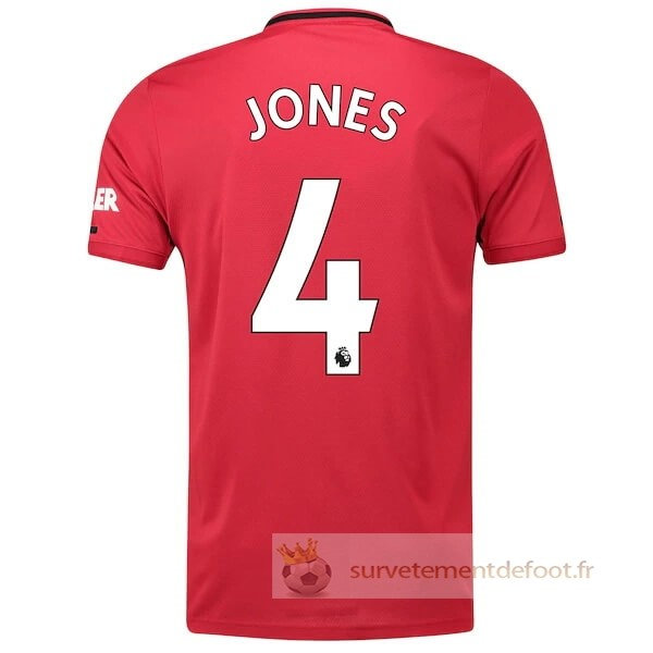NO.4 Jones Maillot 1rd Manchester United Equipement 2019 2020