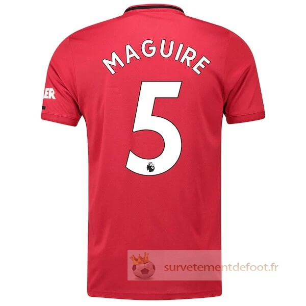 NO.5 Maguire Maillot 1rd Manchester United Equipement 2019 2020