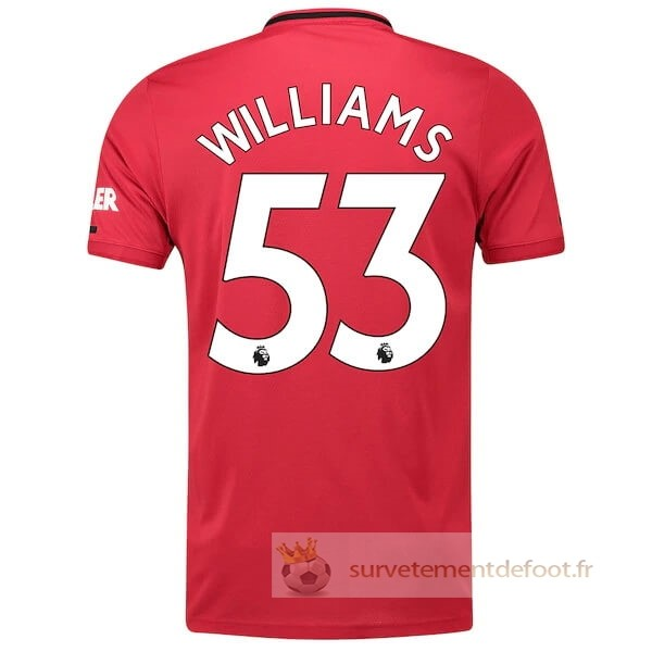 NO.53 Williams Maillot 1rd Manchester United Equipement 2019 2020