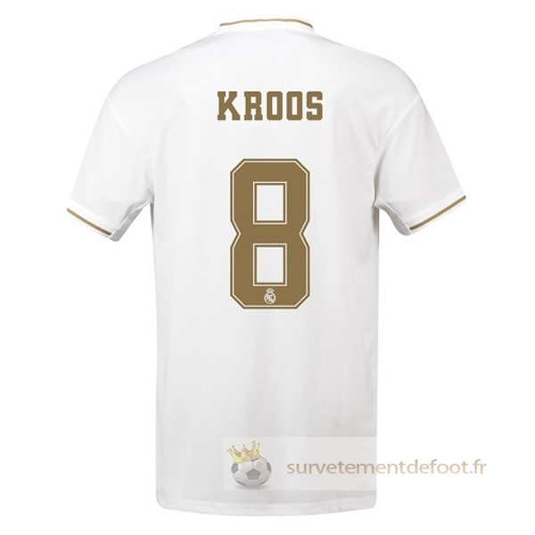 NO.8 Kroos Maillot 1rd Real Madrid Equipement 2019 2020