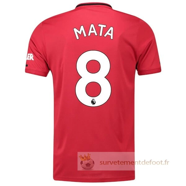 NO.8 Mata Maillot 1rd Manchester United Equipement 2019 2020
